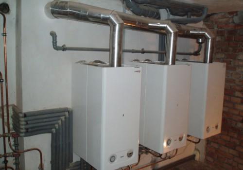 Samostatné vytápění a ohřev vody 3 bytů v domě v Novém Bydžově